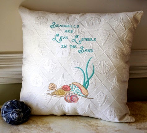 Seashells are Love Letters in the Sand Pillow