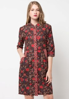Contoh Model Dress Batik Terbaru