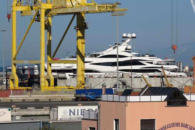 Luxury yacht Lionheart, IMO 1012323, port of Livorno