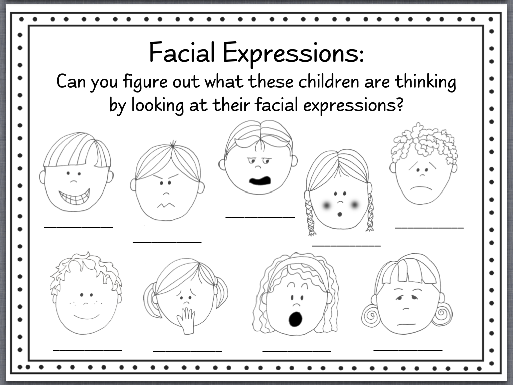 Identifying Feelings Worksheet - Thedesigngrid