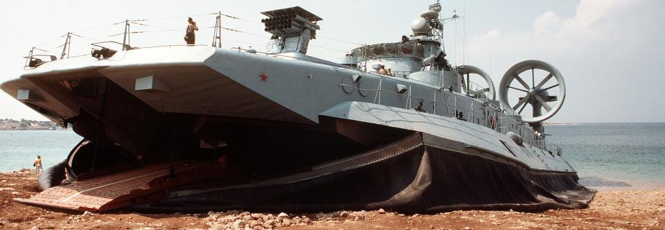 РФ модернізує десантні кораблі на повітряній подушці