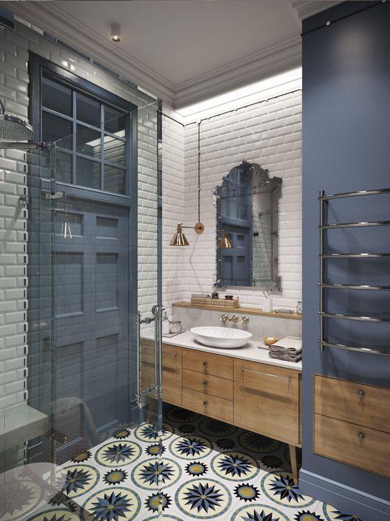 5bbb6530a TOP 10  banheiros com azulejos de metrô