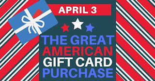 Great American Gift Card Purchase - Friday, April 3