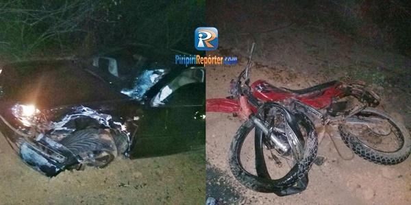 Motociclista tem braço e perna decepados em acidente entre Piripiri e Pedro II