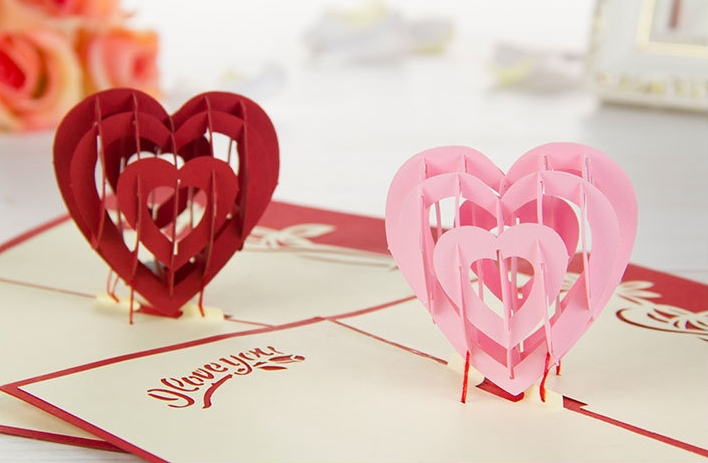 Handmade Valentine Day Cards Ideas The Cutting Art