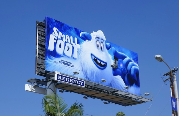 Small Foot extension cutout billboard