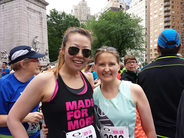 Grace and Lisa before the Mini 10K NYC