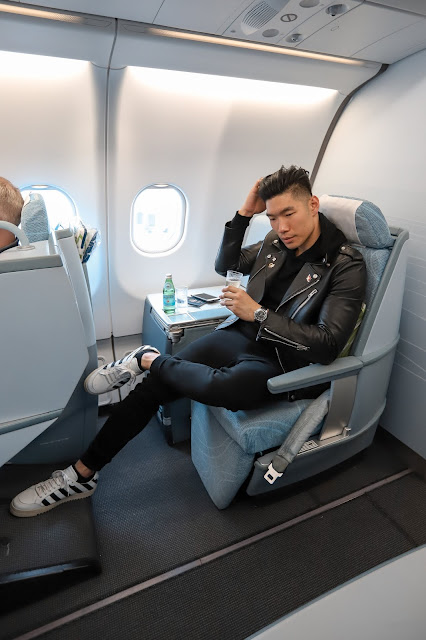Leo Chan, Levitate Style, flying Business class with Finnair
