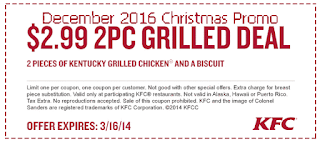 Kfc coupons for december 2016