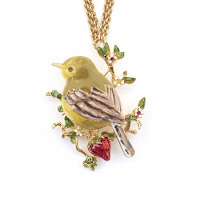 Gold Finch Pendant Necklace Bill Skinner Jewellery Blog