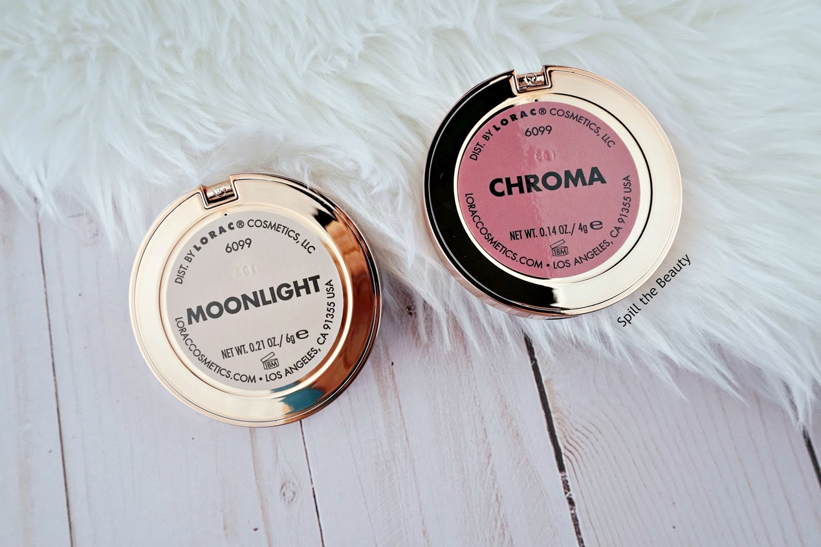 lorac evening soiree light source and color source duo moonlight highlighter chroma blush review swatches
