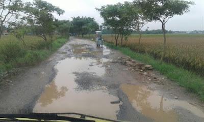 24 Tahun Jalan Desa Solokan Rusak Berat