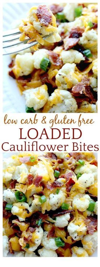 Loaded Cauliflower Bites