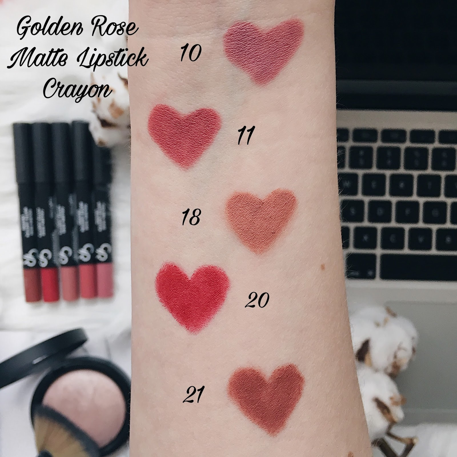 Golden Rose Matte Lipstick Crayon swatch
