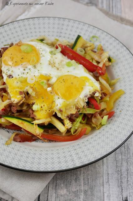 Experimente aus meiner Küche: Gemüsepfanne mit Ei