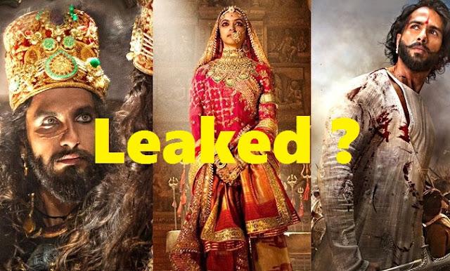 क्या Controversial फिल्म Padmavati  Youtube पर लीक हो गई है? Padmavati leaked ?