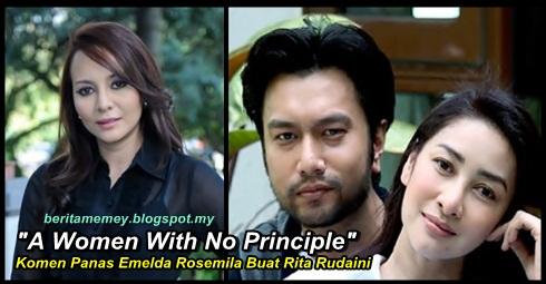 """A Women With No Principle"" – Komen Panas Emelda Rosemila Kepada Rita Rudaini"