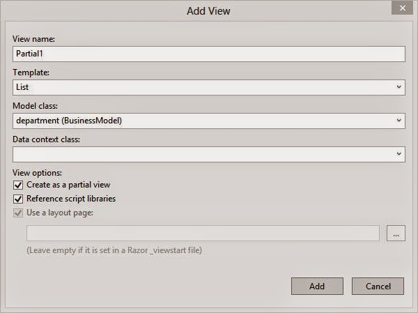 Build the project before adding the view in the MVC project