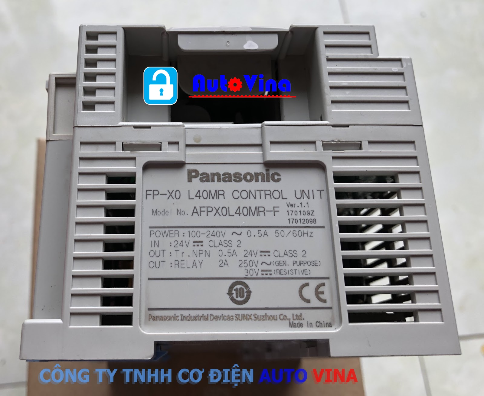 Mở khóa PLC Pansonic FP-X0 L40MR, unlock password plc Panasonic AFPX0L40MR-F