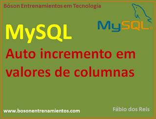 MySQL - Auto incremento de valores en columnas