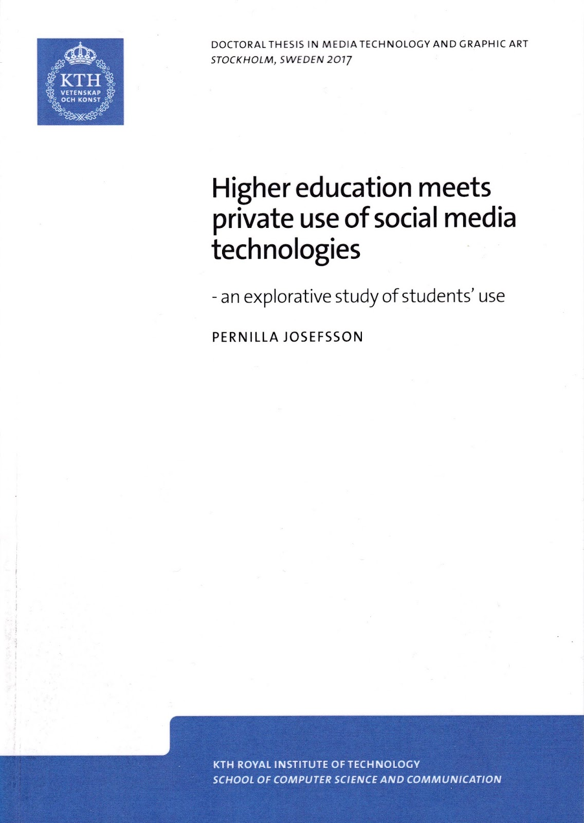 Doctoral Thesis In Education