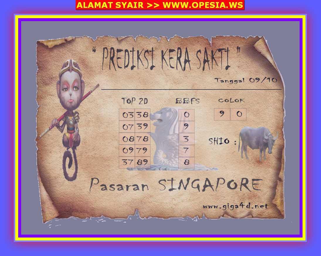 Kode syair Singapore Rabu 9 Oktober 2019 107