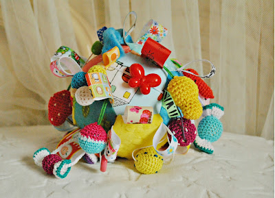 Rainbow, Soft toys, Stuffed Fabric Toy, Baby Rattles , Organic Baby Teether, Nursery, crochet toys,  Babywearing, Eco-Friendly, handmade