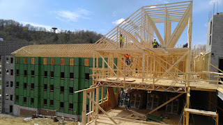 Progress on construction of new residence hall