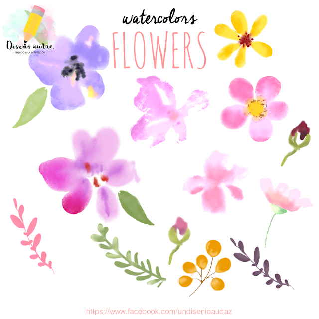 Watercoler free flower png