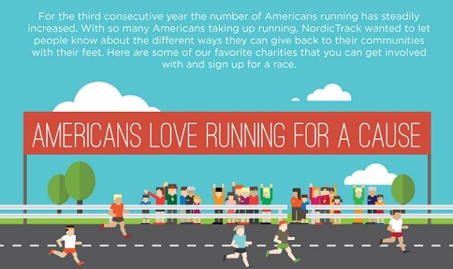 Image: Americans Love Running for a Cause #infographic