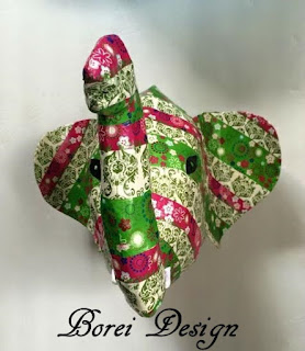 One year of craft project tutorials. How to make your own Plains Bust Elephant from Anthropologie