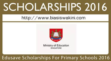 Edusave Scholarships For Primary Schools-ESPS 2016