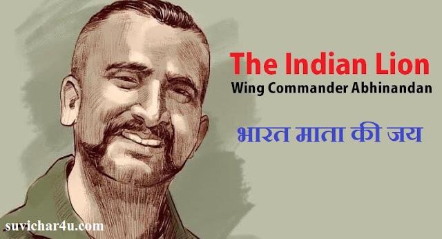 भारत माता का बहादुर शेर - विंग कमांडर अभिनंदन