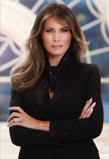 Melania Trump's first official White House portrait revealed