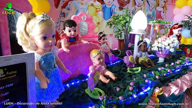 Decoração com tema infantil Princesas Baby Disney