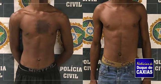 Polícia prende homens acusados de tráfico de drogas em Duque de Caxias