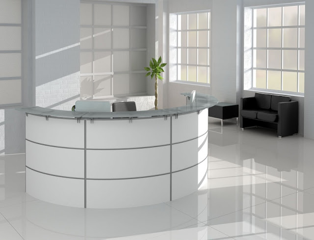 best modern white office reception furniture sets for sale