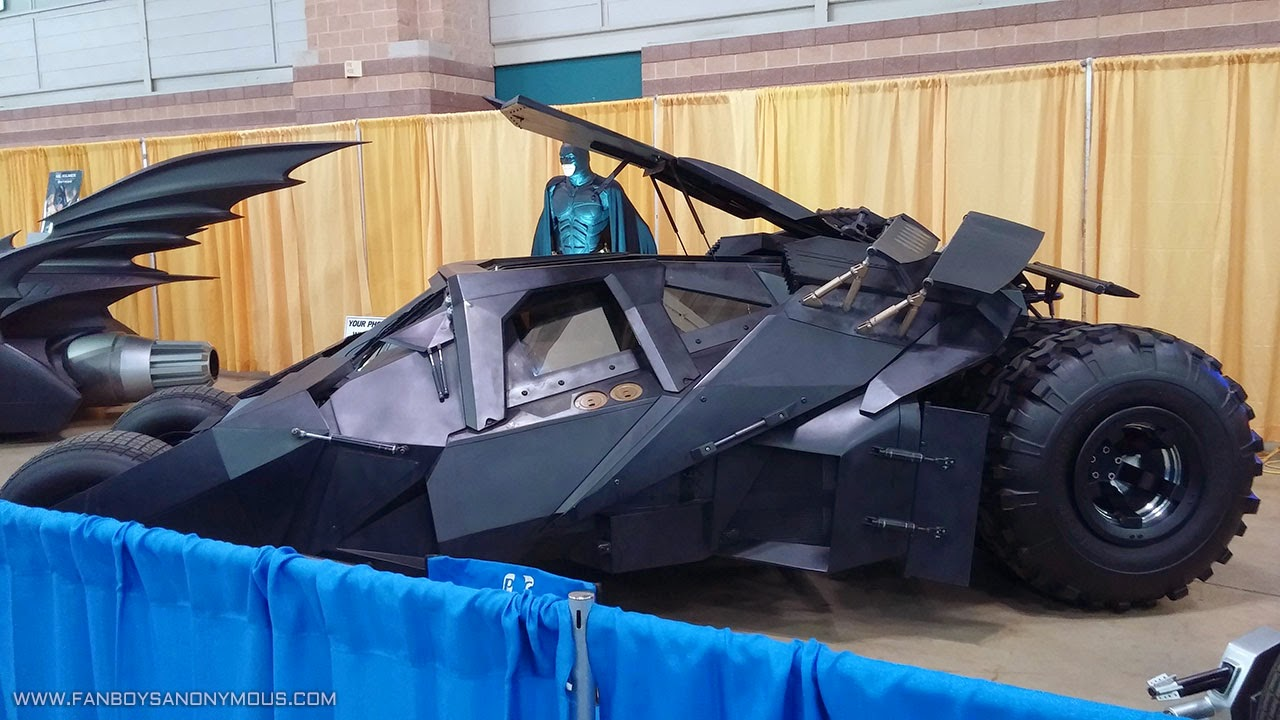 Batman Begins Batmobile Convention Garage