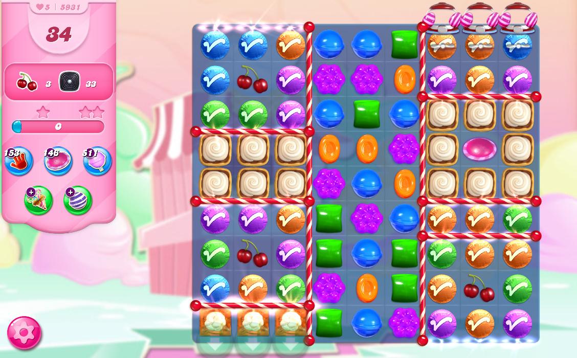 Candy Crush Saga level 5931