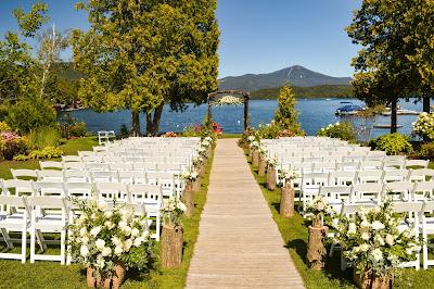 Montaje para ceremonia de boda