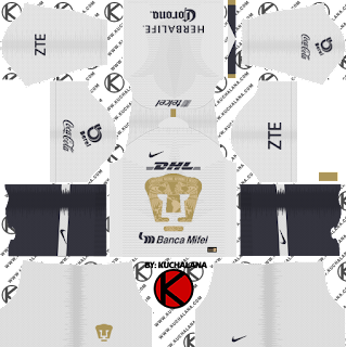 Pumas UNAM 2018/19 Kit - Dream League Soccer Kits