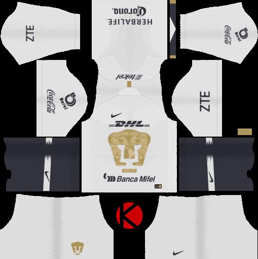 Pumas UNAM 2018/19 Kit - Dream League Soccer Kits