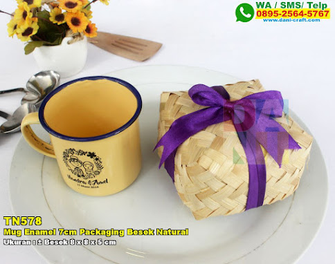 Mug Enamel 7cm Packaging Besek Natural