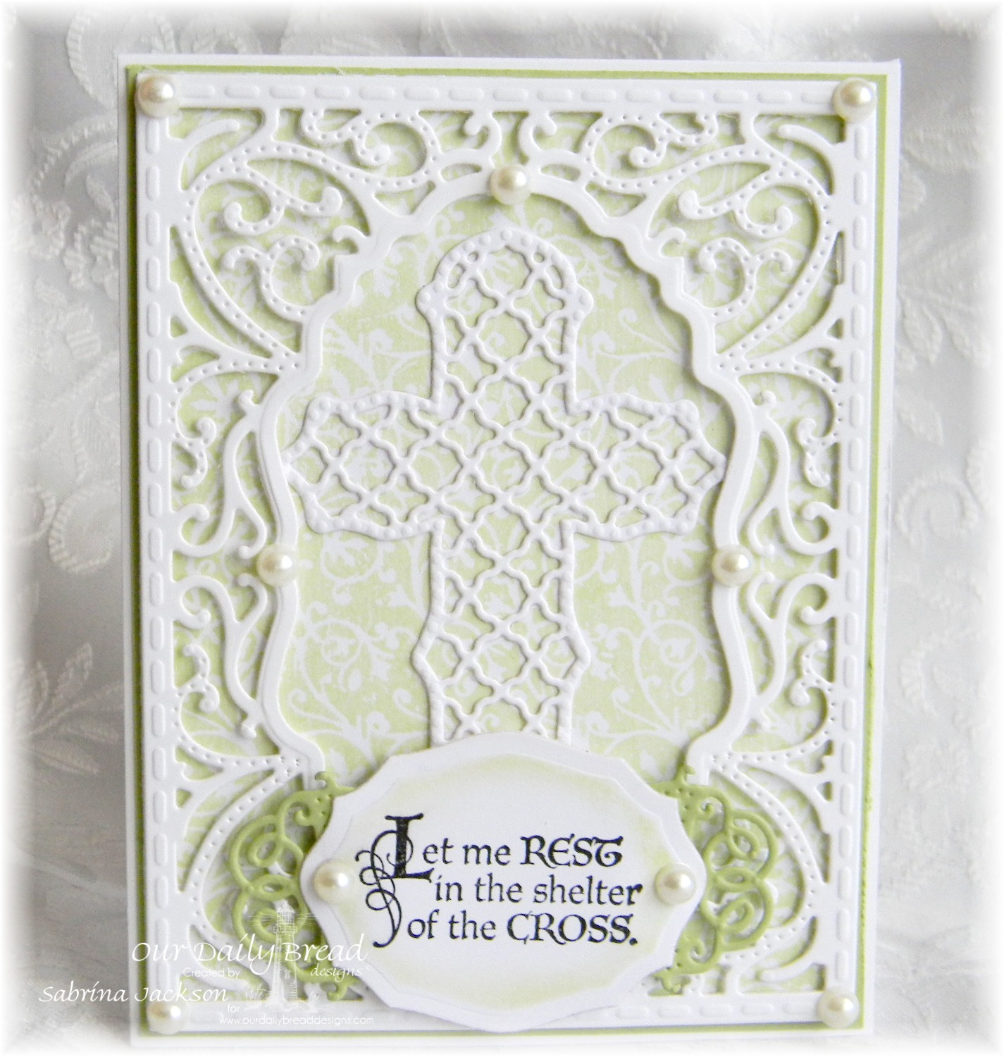Stamps - Our Daily Bread Designs Chalkboard Vine BG, The Cross, ODBD Custom Vintage Flourish Pattern, ODBD Custom Ornamental Crosses Die, ODBD Elegant Ovals Die