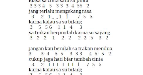 Not Angka Pianika Lagu Karna Su Sayang Near Feat Dian Sorowea Pianika Recorder Keyboard Suling Chord Piano