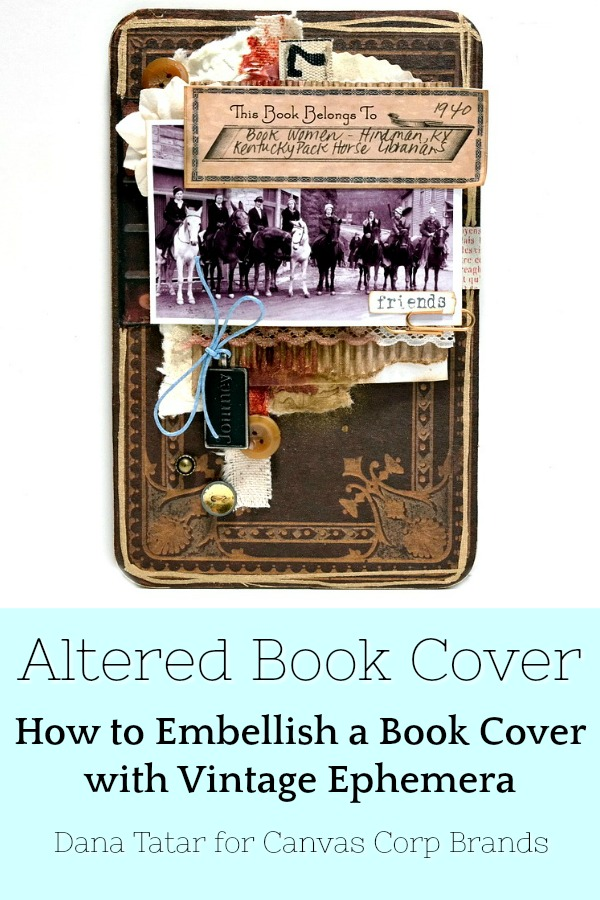 Altered Book Cover Featuring the Kentucky Pack Horse Librarians and Vintage Ephemera