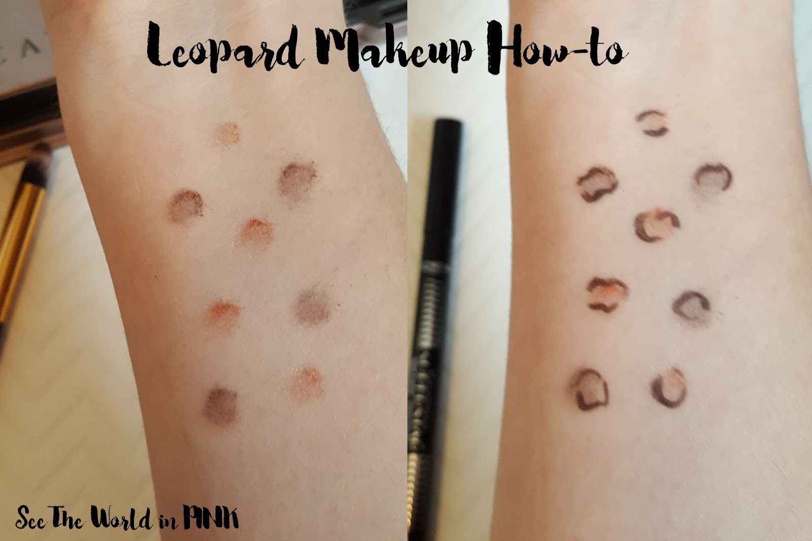 leopard makeup how-to tutorial
