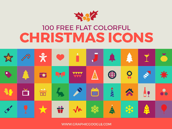 Download 100 Flat Christmas Icons Free