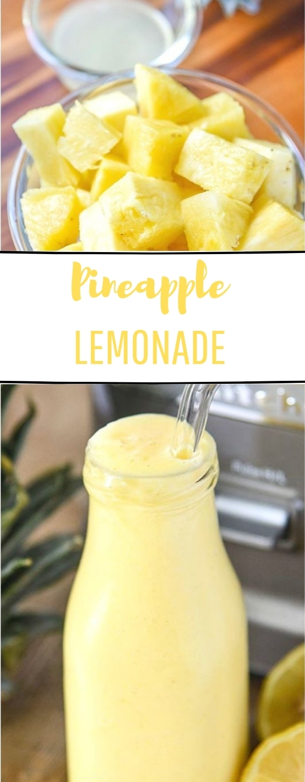 Pineapple Lemonade #freshdrink #lemonade