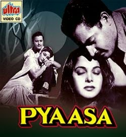 Poster Of Bollywood Movie Pyaasa (1957) 300MB Compressed Small Size Pc Movie Free Download worldfree4u.com